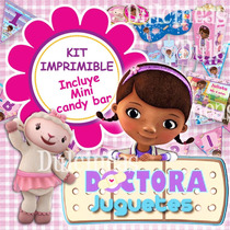 Kit Imprimible Doctora Juguetes Cotillón Invitación Cajitas
