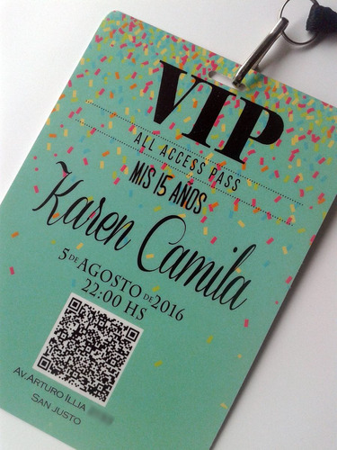 d5ea1f3f05ca Tarjeta Invitacion Vip 15 Años Cordon C/herraje X10 en venta en ...