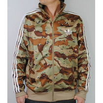 Campera Adidas Military Brown White