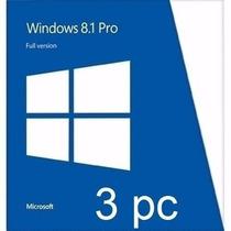 Licencia Windows 8.1 Pro 32-64 3 Pcs +office2010 3pc