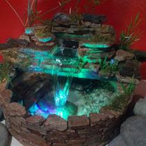 Fuente De Agua, Cascada De Piedra Con Luz....daegroup.