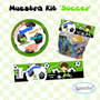 Kit Futbol Soccer Tarjeta Invitaciones Cotillón Imprimible
