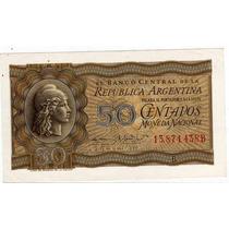 Billete 50 Centavos Moneda Nacional Año 1952 Sin Circular