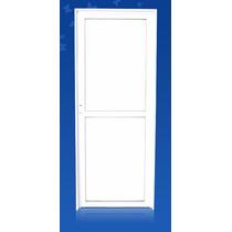 Puerta Aluminio Blanco 36mm Hoja Ciega 080*200