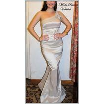 Vestido Fiesta Sirena Calce Perfecto Con Cola Moda Pasion