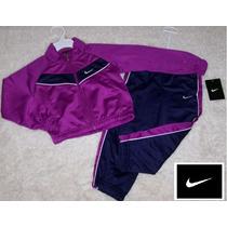 Conjunto Nike Baby Clásico Talle 4 Azul Violeta Original