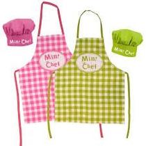Delantal+gorro De Cocina Mini Chef Ideal Para Niños Y Niñas