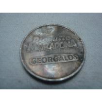 Moneda Georgalos Dieguito Maradona Palomita.