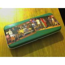 Coca Cola (canoplas De Metal Color Verde) - Memorabilia