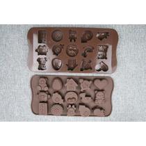 Molde De Silicona Chocolate Oso Chancho Corazon Bombones