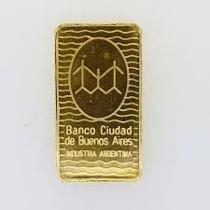 Lingotes De Oro 24k 5 Gramos Banco Ciudad
