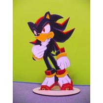 Shadow De Sonic Adornos De Torta Centro De Mesa