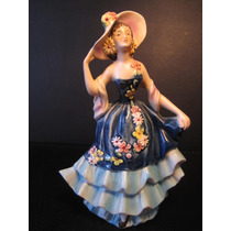 El Arcon Figura Porcelana Hummel Goebel Dama Vintage