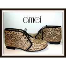 Liquidación Chatitas Acordonadas Animal Print Amei Shoes