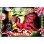Juguete Para Chicos Set De Dragón Y Duendes