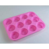 Molde Silicona 12 Cupcakes Placa Cheff Cocina Reposteria