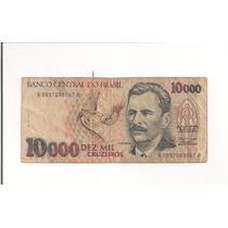 Billete De $ 10,000 (diez Mil)cruzeiros De Brasil