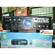 Amplificador Potencia Audio Karaoke 2 Mic 240w Usb 12v/220v