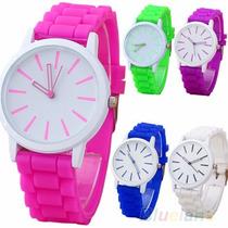 Reloj Pulsera Silicona Unisex Color Deportivo Por Mayor 10 U