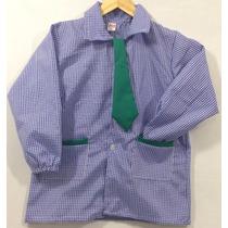 [ Pintorcito De Jardin T.6 ] Azul Con Corbata Verde 2016