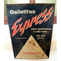 Antigua Lata De Galletitas Terrabusi Express Grande 7,300 Kg