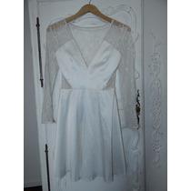 Vestido Las Oreiro Blanco Novias Boda Civil
