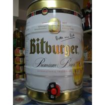 Barril Cerveza 5l Bitburguer Importada Alemania Caballito