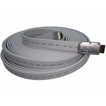 Cable Hdmi Full Hd 1080p 1.4 3d 15 Metros Dorado Flat Nisuta