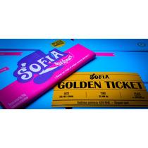 Invitación Willy Wonka + Chocolate 70g + Golden Ticket