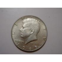 Moneda De Plata Medio Dollar Usa 1965 Kennedy