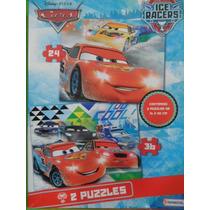 2 Puzzles Cars En Su Caja