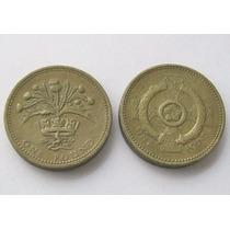 2 Monedas 1 Pound 1984 Y 1996 De Gran Bretaña !
