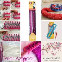 Telar Azteca De Plástico. 23cm De Largo.