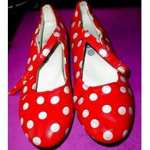 Zapatos Baile Nº35 Lunares Sevillanos Españoles Flamenco
