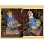 Antiguo Muñeco Personaje De Papel Mache Acordeón