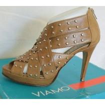 Viamo Sandalias Zapatos Talles 38 Y 40 Cuero Marron (ana.mar