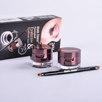 Delineador Gel 4 En 1 Negro Marron 24 Hs Pincel Doble Ydnis