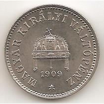 Hungria, 10 Filler, 1909. Sin Circular
