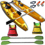 2 Kayaks Rocker Twin Kit Catamaran Pesca +salvavidas Palermo