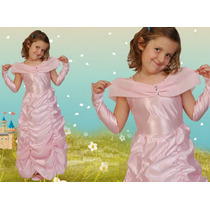 Disfraz Bella Rosa Princesa Talles -jugueteria Minijuegos!