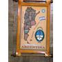 Souvenirs De Argentina Mapa Mediano Cuero Flex 24*37 Y Otros