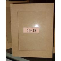 10 Portaretratos Para Foto 13x18. Fibrofacil-con Vidrio