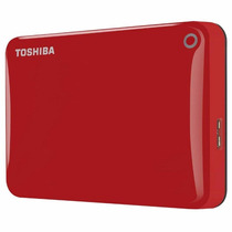 Disco Externo Portatil Rojo 1tb Toshiba Canvio Connect Il