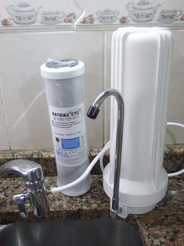 Purificador de agua sobremesada con filtro carb n activado - Filtro de agua precio ...
