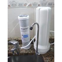 Purificador De Agua Sobremesada Metalico + Filtro