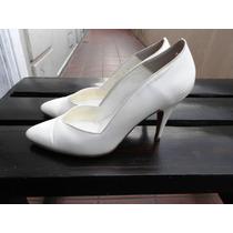 Zapato De Cuero Nº 35 / 36 Ideal Novias Impecables !
