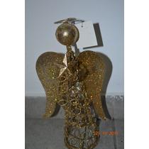 Adorno Navidad - Angelitos De Alambre - 25cm