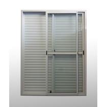 Puerta Ventana Aluminio Blanco 150x200 C/ Postigon Unificado