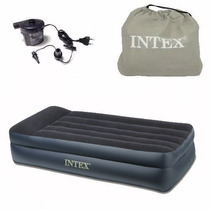 Colchon Inflable Intex - 1 1/2 - Sommier + Inflador 220 V -