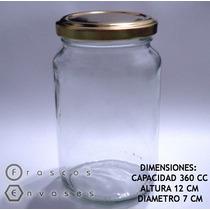 Frascos Envases De Vidrio Amanecer 360cc C/ Tapa. Mermeladas